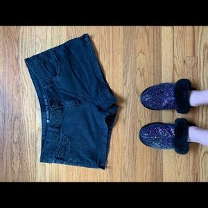 Black short shorts size 9 runs small